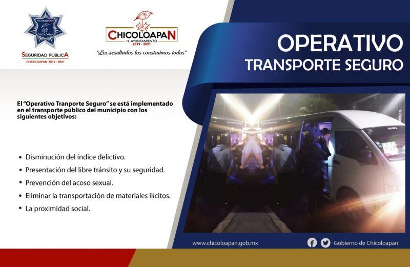 operativos en las diferentes rutas del transporte público