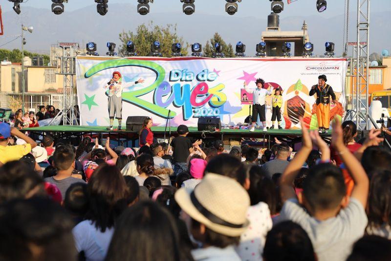 El Gobierno de Chicoloapan celebró el Día de los Reyes Magos